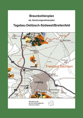 Deckblatt zum Braunkohlenplan Tagebau Delutzsch-Südwest/Breitenfeld
