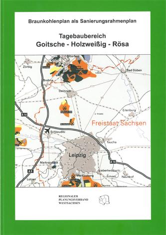 Deckblatt zum Braunkohlenplan Tagebau Goitsche Holzweissig Rösa