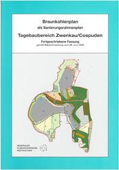 Deckblatt zum Braunkohlenplan agebau Zwenkau/Cospuden