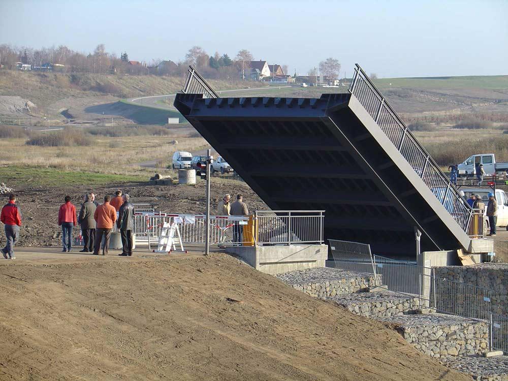 Klappbrücke zw. Markkleeberger und Störmthaler See