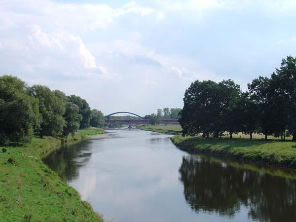 Muldenaue - Neue Brücke in Eilenburg