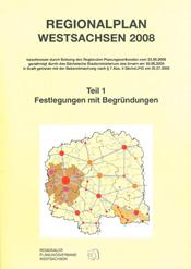 Cover des Regionalplans Westsachsen 2008