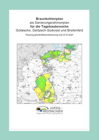 Cover des Braunkohlenplans der Tagebaubereiche Goitzsche-Delitzsch-SW-Breitenfeld